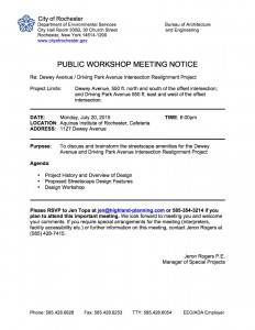 DDP Intersection meeting notice