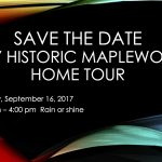 2017 Historic Maplewood Home Tour date has been finalized!